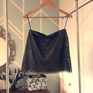 black Zara sequin mini skirt - XS - S